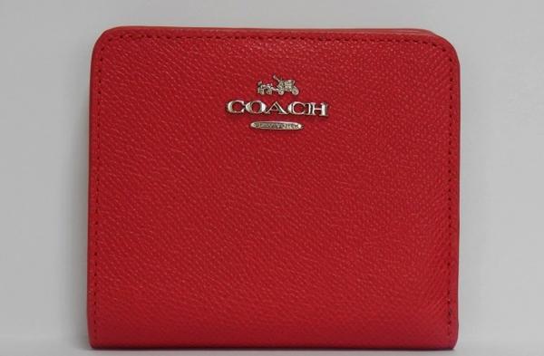 コーチ スモール財布 53649赤×オレンジ