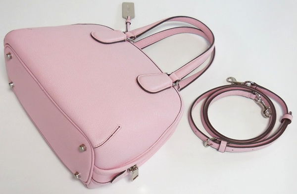 コーチ ミニハンドバッグ34940淡いピンク 背面