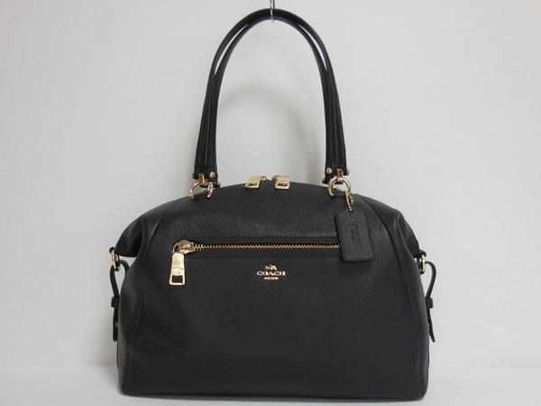 コーチ ハンドバッグ36560黒 ボストン形