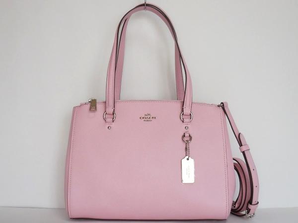 コーチ ハンドバッグ36882淡いピンク