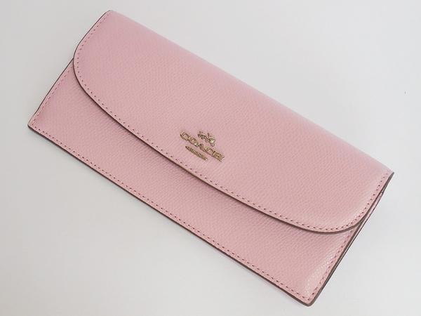 コーチ 長財布F52689淡いピンク