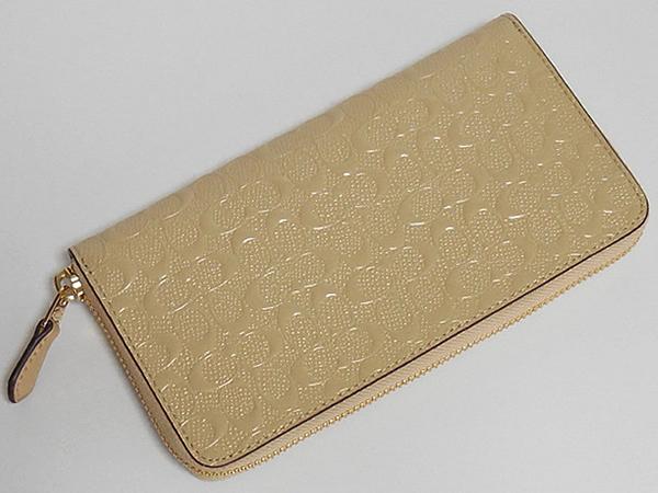 コーチ ジップ長財布F54805プラチナ 背面