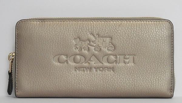 コーチ アウトレット長財布F52251メタリックブロンズ 正面