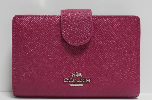 コーチ コンパクト財布52336赤紫
