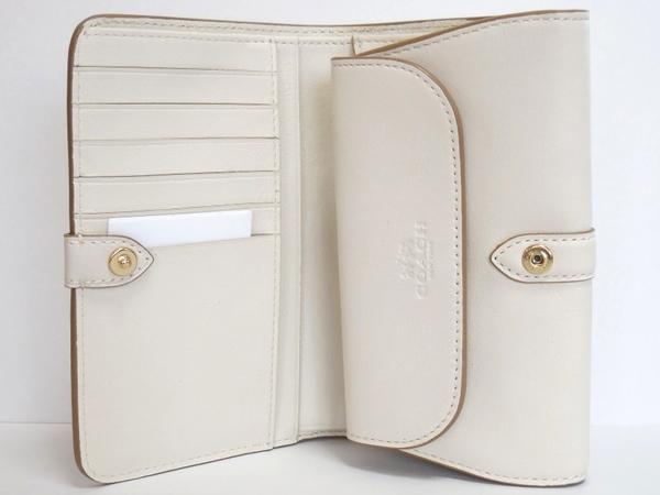 コーチ 二つ折財布53714白 内装