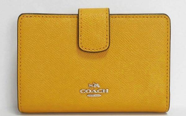 コーチ アウトレット 二つ折財布F54010マスタード