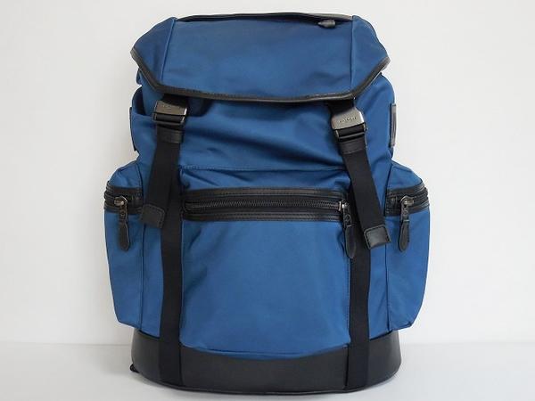 コーチ メンズ バックパックF71884青