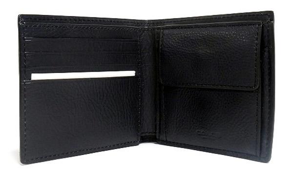 コーチ メンズ 二つ折り財布F75137紺 カードポケット