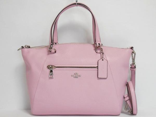 コーチ ハンドバッグ34340淡いピンク 正面